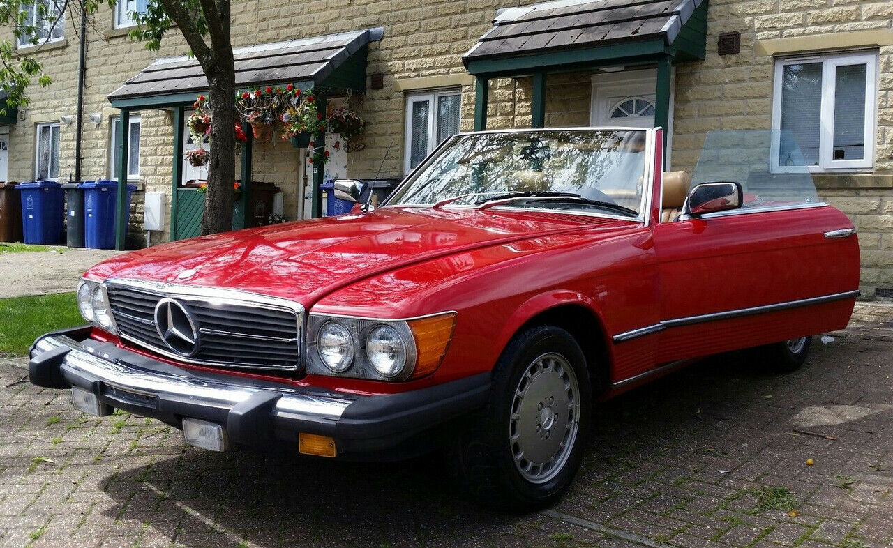 ercedes 450 SL R107 convertible v8 automatic 2dr LHD 87000 miles classic 1980