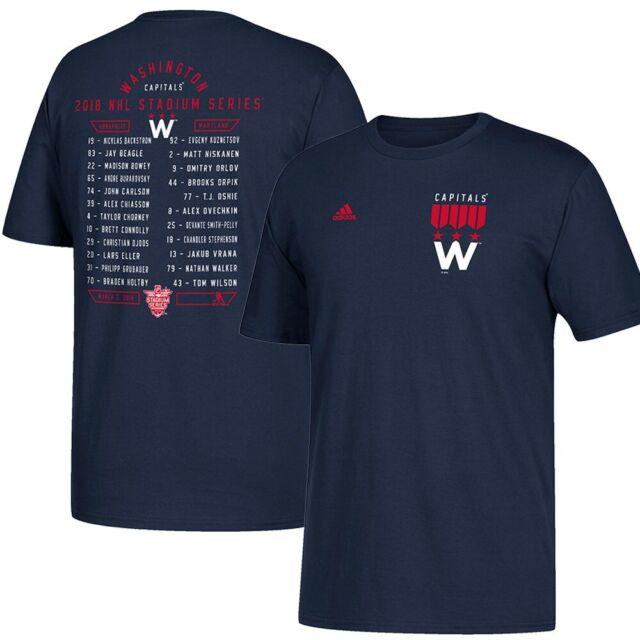 new concept 4f4b5 de09e Washington Capitals NHL Adidas 2018 Stadium Series Roster Navy T-Shirt