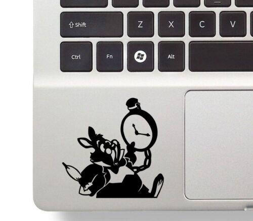 Vinyl Decal Sticker Wall Alice in Wonderland Rabbit Laptop Trackpad Funny