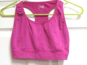 EVERLAST-Sport-Women-039-s-Athletic-Fitness-Sports-Bra-Pink-Size-L-Large