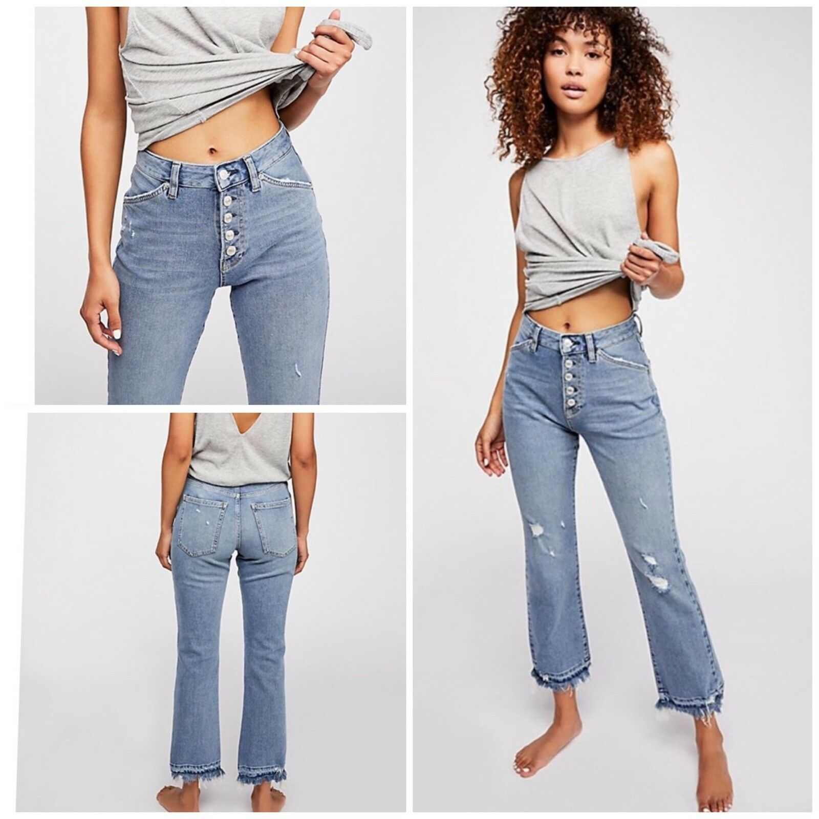 Free People The Dylan High-Rise Cropped Jeans Size 29 NWT