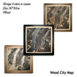 Wood-City-Map-New-York-NY-USA-Decor-Picture-Town-Village-Laser-Cut-Wall-Art