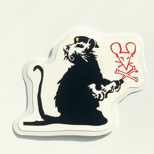 Banksy Sticker Revolutionary Rat Vinyl Decal Street Art Graffiti Car Bike Van VW