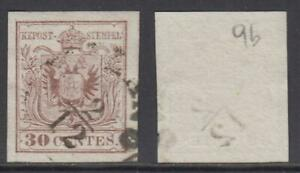 ITALY-1854-Lombardo-Veneto-Sassone-n-9b-II-Tipo