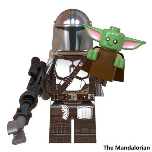Star Wars The Mandalorian /& Baby Yoda Lego Compatible Minifigures
