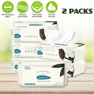 2-Pac-Asciugamano-di-Carta-Monouso-Per-Pulizia-del-Viso-Asciutto-e-Morbido