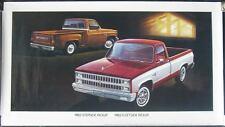 1982 Chevrolet Silverado Pickup Showroom Poster mx321-RO5D2E
