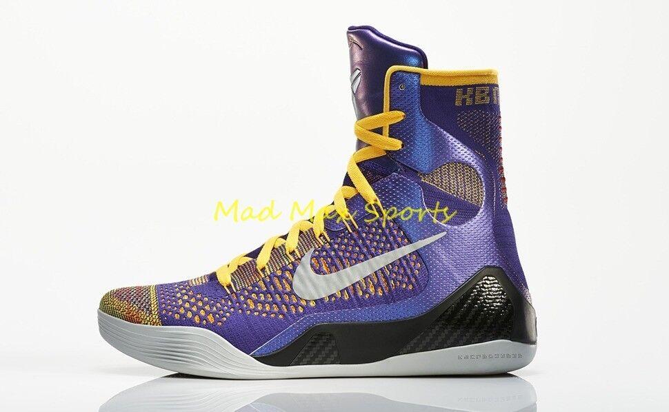 IN HAND Nike KOBE Team Bryant ELITE 9 IX Team KOBE Collection LAKERS Shoes w/RECEIPT Sz 11 758918