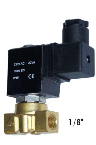 """Válvula de solenoide de latón 2//2 vías 24v sin corriente cerrado 1//8/"""" 2/"""""""