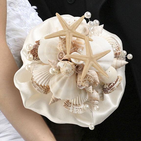 Lillian Rose Coastal Theme Wedding Seashell Flower Bouquet Ebay