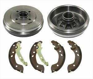 Pair Set of 2 Rear Brake Drums Professional For Nissan Cube Sentra Versa
