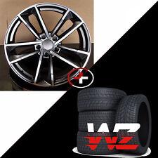 20 inch Sportback 1329 Style Wheels Gunmetal  w Tires Fits Audi A7 S7 A8 S8 +25