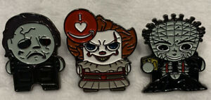Amazon-peccy-Michael-Myers-Pennywise-PINHEAD-HORROR-Serie-2-Collector-Pin-Set