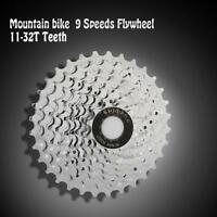Bicycle Steel 11-32t Teeth Crankset Cycling Part 9 Speed Cassette Flywheel V5v3