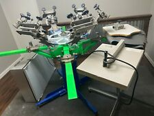 Screen Printing Press 4 Color 4 Station Afford A Flash 25x36 Rxp Exposure Unit