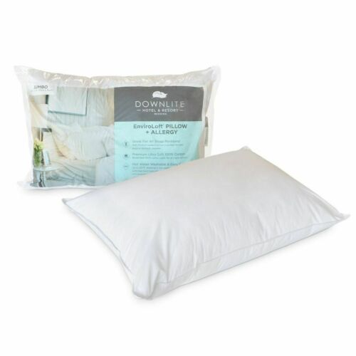 AAFA Certified Allergen Pillow Enviroloft Down-Like Med Plush 230 TC Cotton