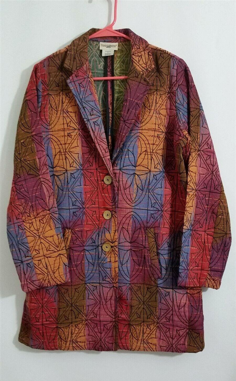Travelsmith Womens Coat Jacket Blazer Multi-Color… - image 1