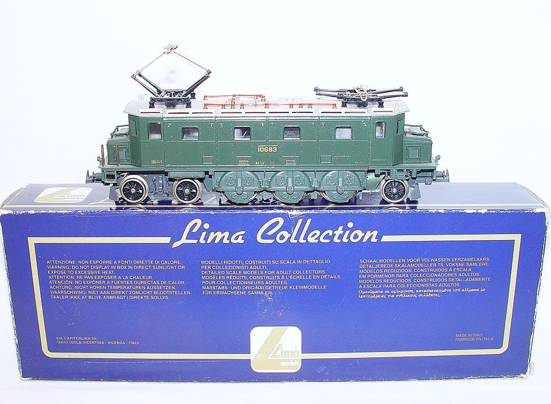 Lima HO 1 87 Swiss SBBCFF 10683 ELECTRIC LOCOMOTIVE verde Ae 36 I MIB`95 RARE