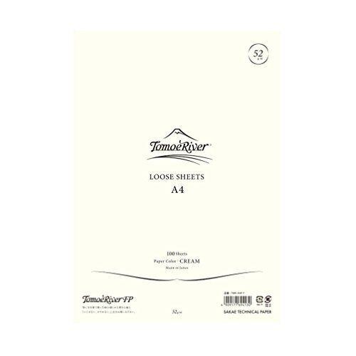 "Tomoe River FP Loose Sheet, 8.27 x 11.7"", 100 Sheets/Pack, Cream (TMR-A4P-Y)"