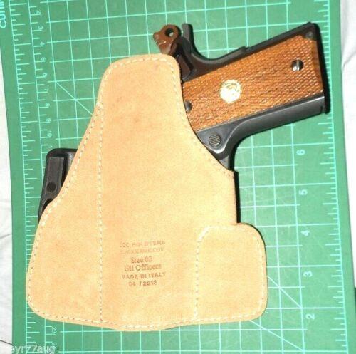 Blackhawk 421602BN-R RH Suede Tuckable IWB Holster Colt 1911 Officer/'s Defender