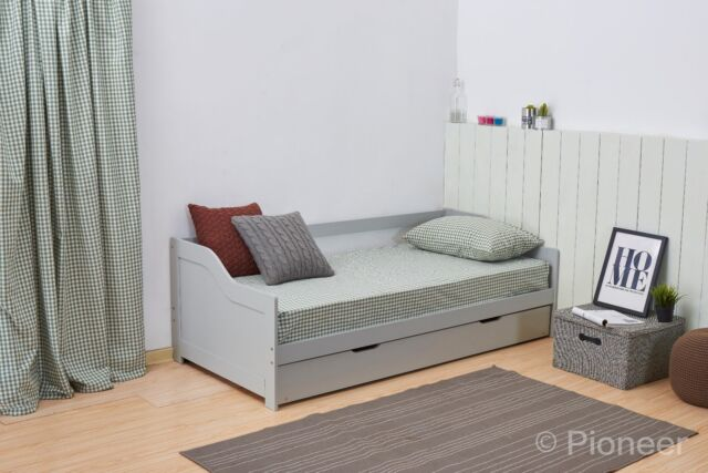 100% authentic 5d6dd 88799 Day Bed Single Bed with underbed. white 2 beds in 1 daybed trundle guest  bed 3ft