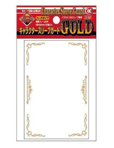 92 x 66mm Akashiya Barrier Character Guard Flame Card Sleeves 60 Piece Gold