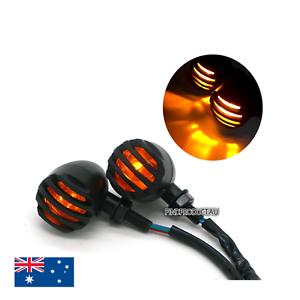4X-Motorcycle-Black-Lamp-Turn-Signal-Indicator-Light-Harley-Chopper-Bobber-cafe