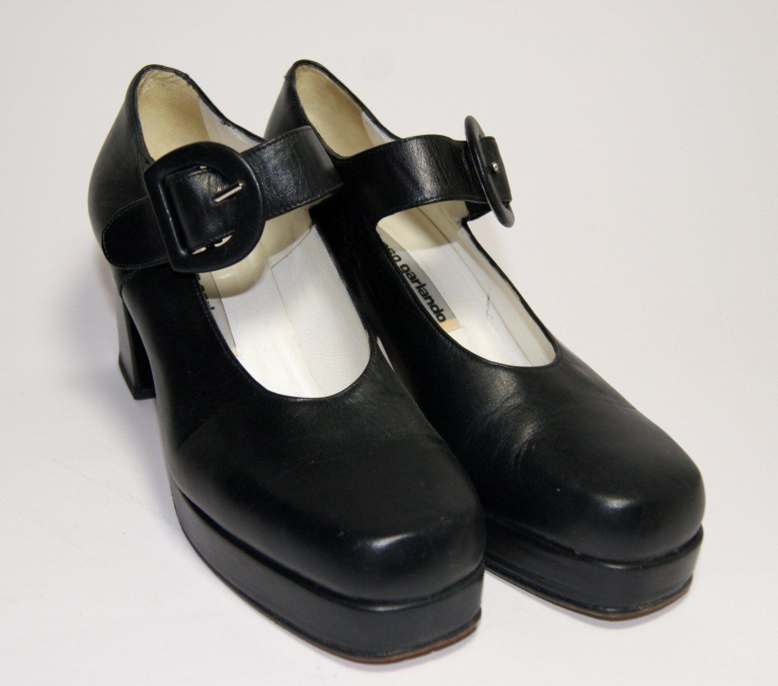 Absatz Schuhe Business Pumps Plateau Edel Garlando Alfonso