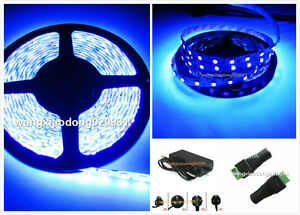 5M-UV-Ultraviolet-395nm-3528-5050-SMD-Purple-300-LED-Flex-Strip-Light-12V-Power