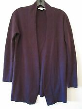 Boden 100% Cashmere Wrap Cardigan Sweater in Fig Purple Size US 4