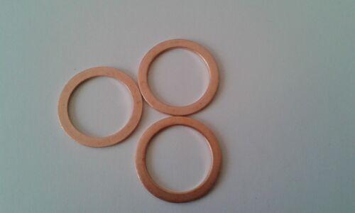 3 piezas de cobre anillo obturador junta cobre 18x24x1,5 mm din 7603 forma a