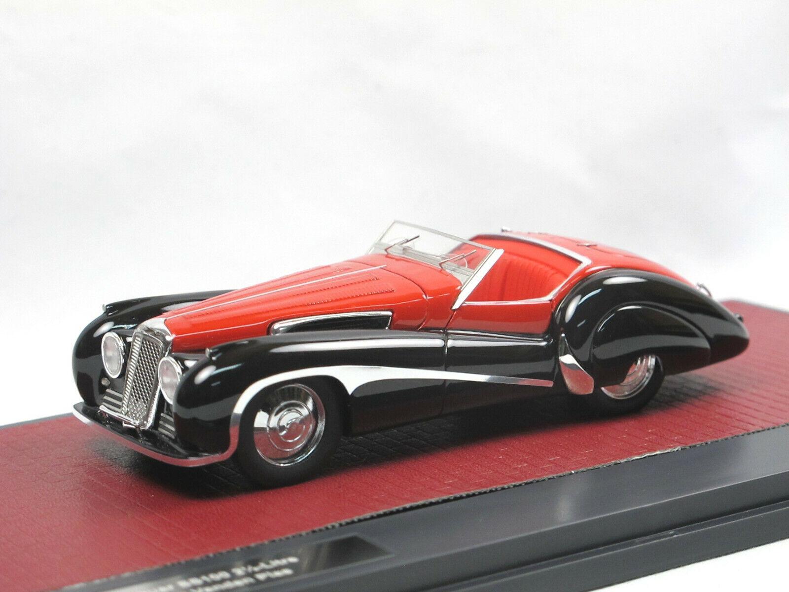 Matrix Scale Models 1939 JAGUAR ss100 2 1 2 - litre-Roadster Vanden Plas rosso 1 43