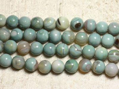 Agate Bleu turquoise Boules 8mm 8741140000360 10pc Perles de Pierre