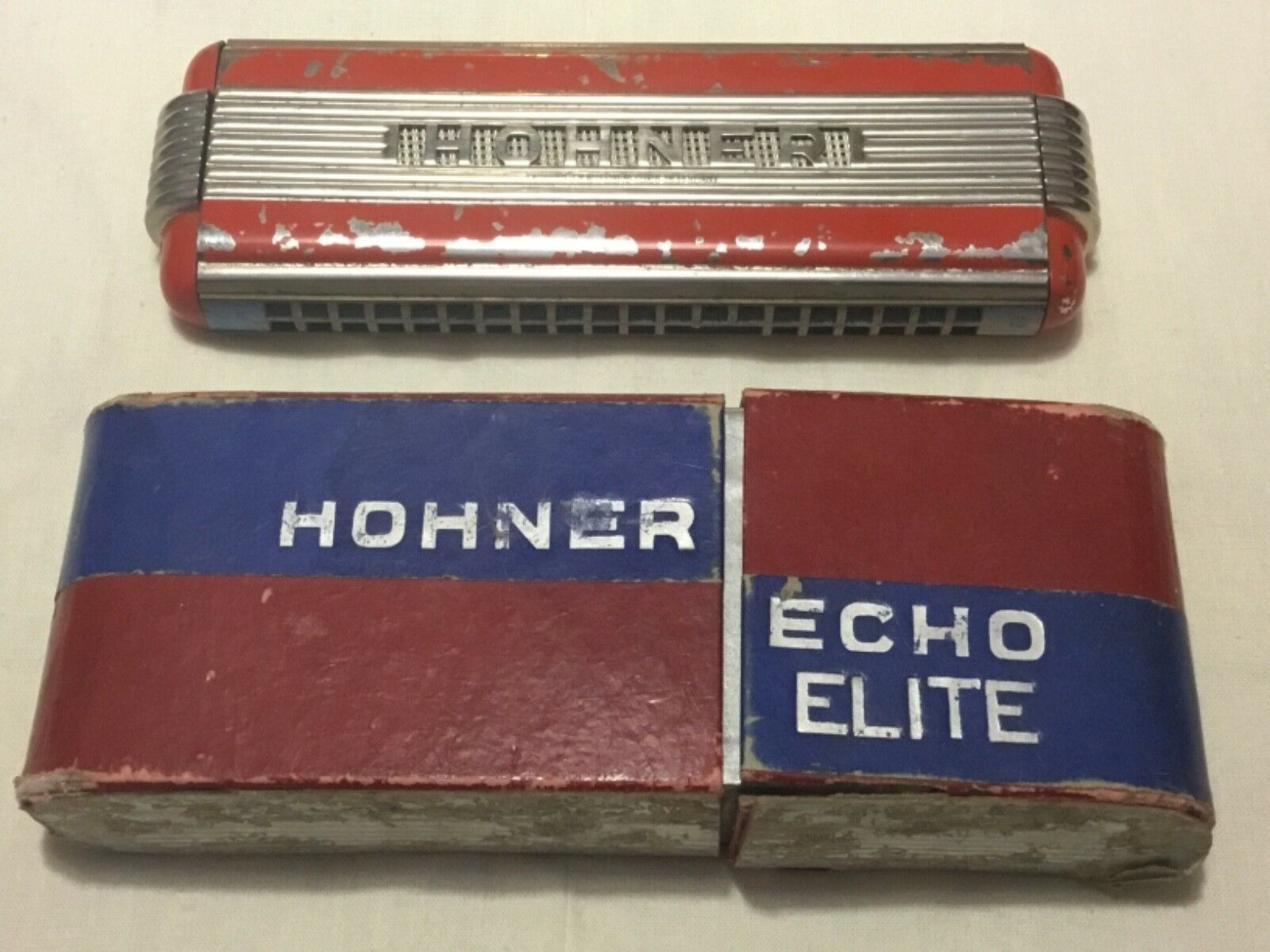 fantastica qualità Harmonica double double double art deco de marque HOHNER ÉCHO ÉLITE, fabriqué en Allemagne  clienti prima reputazione prima