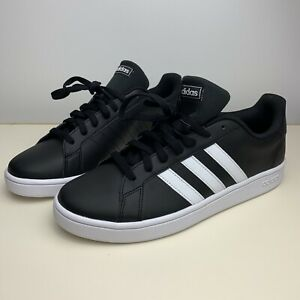 ADIDAS-GRAND-COURT-BASE-EE7900-Casual-Sneakers-Black-White-Men-039-s-Size-10-5