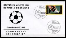 Fußball. Deutscher Fußballmeister 1995, Borussia Dortmund. FDC(4). BRD 1995