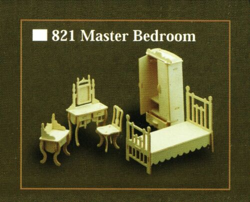 kit de artesanía de madera Dormitorio habitacion Modelo Kit De Muebles Para Casa De Muñecas Escala 12th