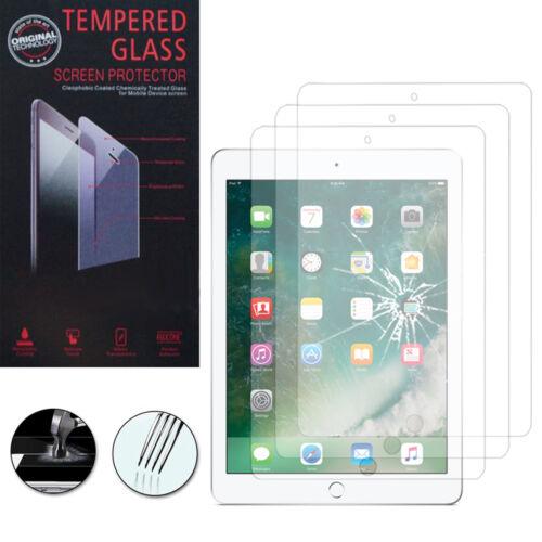 3 Films Verre Trempe Protecteur Protection pour Apple iPad 9.7 2017