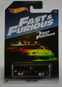 HOT-WHEELS-HONDA-S2000-BLACK-1-8-DIECAST-THE-FAST-AND-THE-FURIOUS-SCALE-1-64