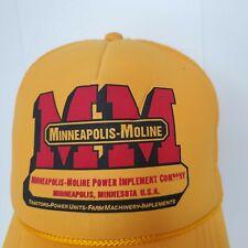 Minneapolis Moline Tractor Farm Baseball Cap Snapback Hat Farming Trucker Foam