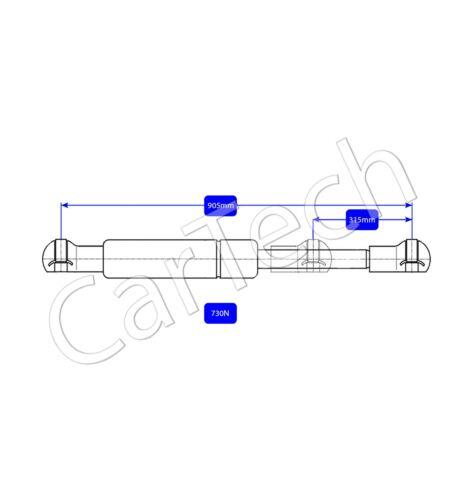 Gas de arranque 2x Trasero Portón Trasero Puntales De Soporte Para Renault Trafic 730N 8200162697