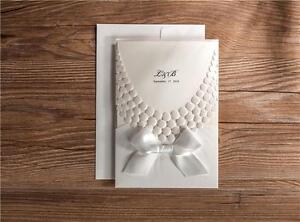 Peal emboss wedding invitation cards personalized 3d white wedding image is loading peal emboss wedding invitation cards personalized 3d white stopboris Gallery