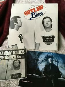 "PETER FONDA AUTOGRAPH Outlaw Blues VINYL LP SEALED 7"" w Pic Sleeve GHOST RIDER"
