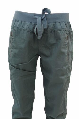 Deha Verde Polsino Casual In Cotone Da Coulisse E Vita Donna Elastico Pantalone Rqt4wx