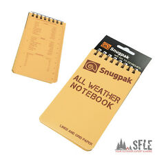 SNUGPAK All-Wetter Notiz-Block,  wasserfest, All Weather Notebook, Notiz-Buch