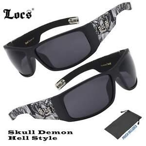 039bb2588f Mens Locs Hardcore Matte Black Biker Skull Hell Demon Cholo Lowrider ...