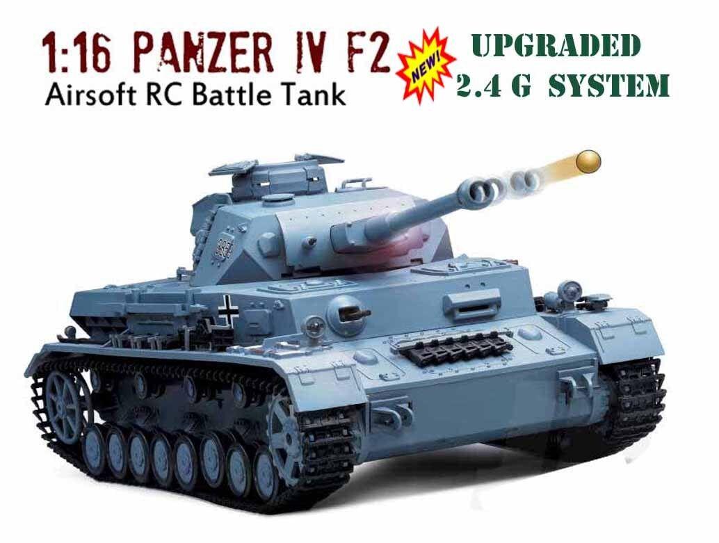 2 4G RC RC RC TANK HENG LONG Panzer iv F2 Radio Remote