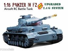 2.4G  RC TANK HENG LONG Panzer iv F2  Radio Remote Control BB Shoot Tank