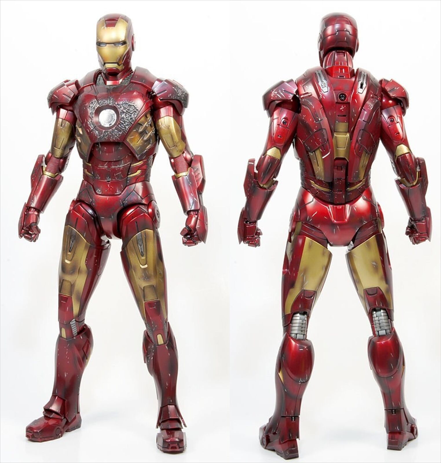 Juguete Sapiens Limitada Los Vengadores Iron Man Mark Vii Battle Damaged Figura versión 1 6