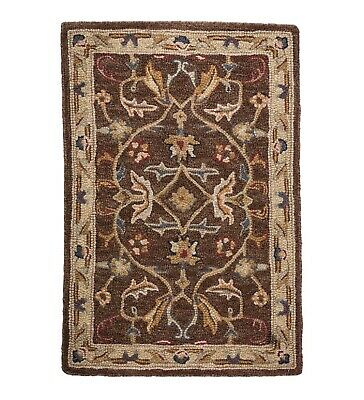 Mclean Wool Rug 2 X 3 Select Brown Gold Or Black Red 311a 113 Ebay